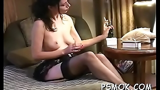 Handsome babe gets herself juicy in all sorts of ways