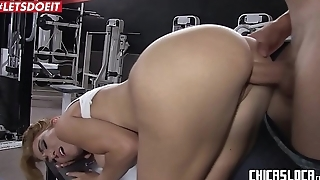 LETSDOEIT - Hardcore Sex At the Gym Before New Year