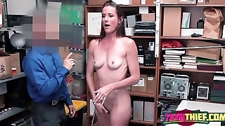 Sofie strips down for horny officer to bang her once found guilty of stealing