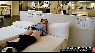 Flashing Boobs And Pussy At Ikea Music by EU 44