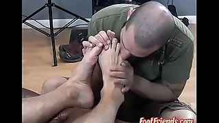 Beefy homo Dog relaxed with passionate toe sucking