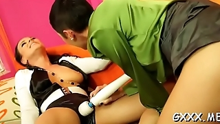 Captivating older lesbian fucks pussy with different toys