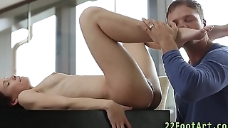 Cuties soles spunked over