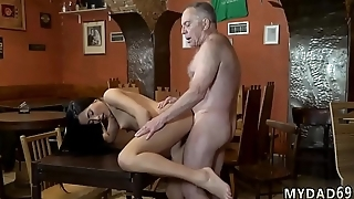 Vintage old man first time Can you trust your girlfriend leaving her