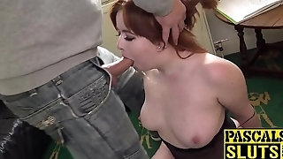Redhead Kitty Misfit deepthroats hard banging cock