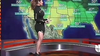 Sexy Latina weather girl