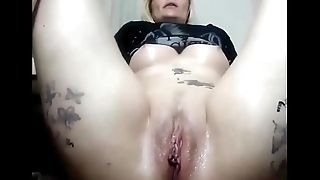 Naughty mom squirting in front of camera