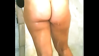 Ericakandy77 hotwife milf mom taking a shower big pawg ass cheeks wet pussy tits