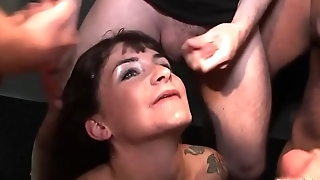 UK model Adreena Winters Enjoyed Bukkake