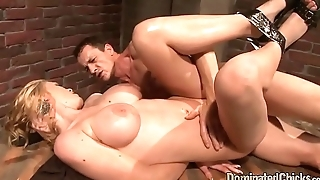 Jizzcovered european sub gets dominated