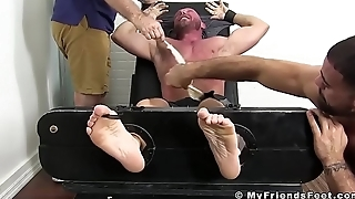Bald hunk Killian Knox tied up by deviant ticklers