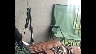 My super hot exotic ebony Girl Friend from Jamaica twerks her beautiful ass &quot_On My Balcony&quot_ showing how Jamaican girls dance to &quot_Leg Over&quot_.