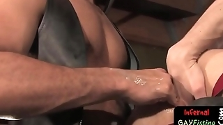 Bdsm gay twink gets his ass fisted
