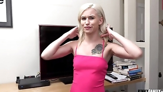 Lustful stepsis takes her bro's dick for POV video