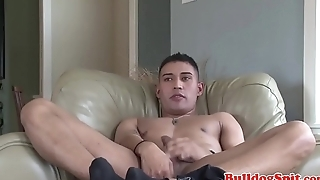 Handsome euro punk tugging his throbbing wang