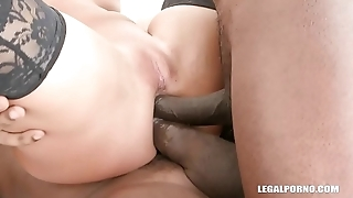 Victoria Pure finally takes two cocks in the ass IV235