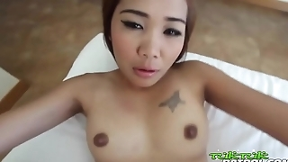 Shaved Bangkok pussy gives horny tourist a tight ride until creampie - ThaiBitches.com