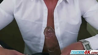 Russian male model takes a big black cock for the first time