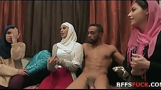 Muslim girls in HIJAB fuck one night before marriage!