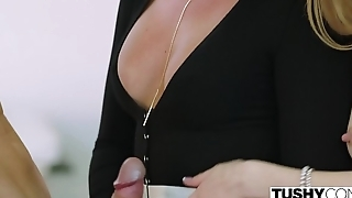 TUSHY Boss Lady Tests Her Assistant'_s Anal Limits