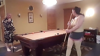 How my sexy wife plays pool