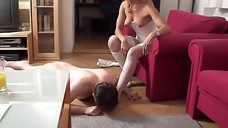 Fetish Girls order guys to sniff on their feet