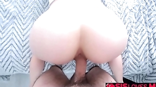 Stepbro fuck Victoria Vixxens moist vagina from behind!