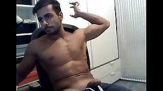 Desi Indian hunk delicious cumshot