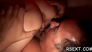 Beautiful hooker gives hot oral sex and spreads wide for dick