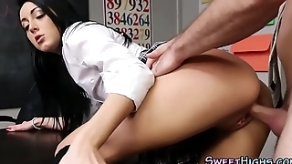 College coed gets drilled