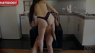 LETSDOEIT - Petite Latina Has Revenge Sex With Her Neighbor'_s Big Cock